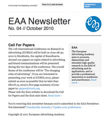 EAA Newsletter No. 04 // October 2011