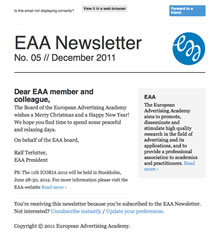 EAA Newsletter No. 05 // December 2011