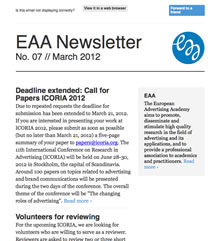 EAA Newsletter No. 07 // March 2012