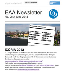 EAA Newsletter No. 08 // June 2012
