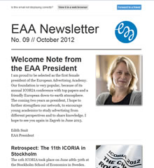 EAA Newsletter No. 09 // October 2012