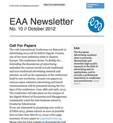 EAA Newsletter No. 10 // October 2012