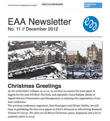 EAA Newsletter No. 11 // December 2012