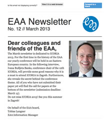 EAA Newsletter No. 12 // March 2013