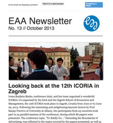 EAA Newsletter No. 13 // October 2013