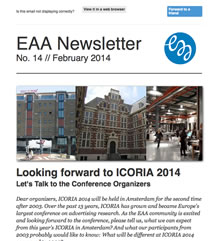 EAA Newsletter No. 14 // October 2014