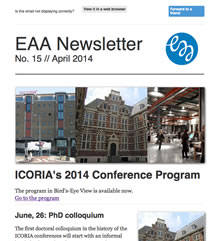 EAA Newsletter No. 15 // April 2014