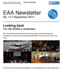 EAA Newsletter No. 17 // September 2014