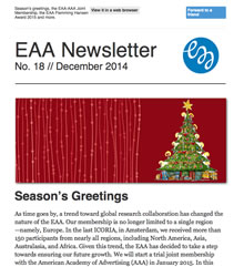 EAA Newsletter No. 18 // December 2014