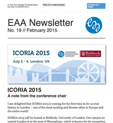 EAA Newsletter No. 19 // February 2015