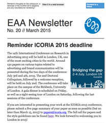 EAA Newsletter No. 20 // March 2015