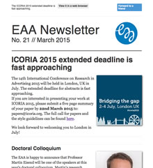 EAA Newsletter No. 21 // March 2015