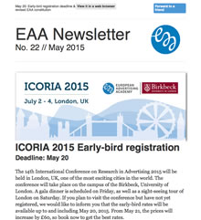 EAA Newsletter No. 22 // May 2015