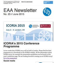 EAA Newsletter No. 23 // June 2015