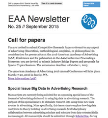 EAA Newsletter No. 25 // September 2015