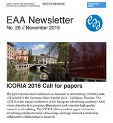 EAA Newsletter No. 26 // November 2015