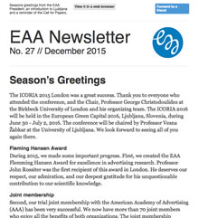 EAA Newsletter No. 27 // December 2015