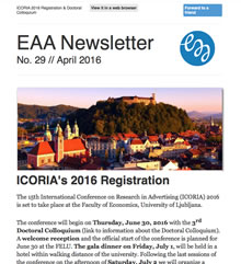 EAA Newsletter No. 29 // April 2016