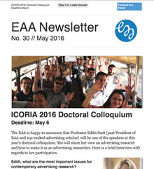 EAA Newsletter No. 30 // May 2016