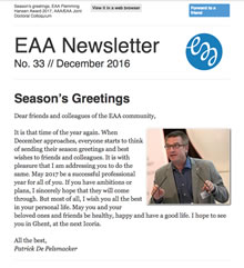 EAA Newsletter No. 33 // December 2016