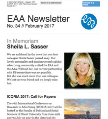 EAA Newsletter No. 34 // February 2017