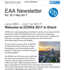 EAA Newsletter No. 35 // May 2017