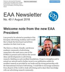 EAA Newsletter No. 40 // August 2018
