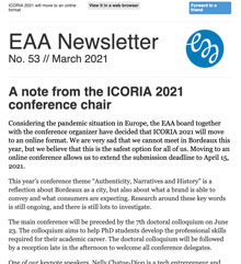 EAA Newsletter No. 53 // March 2021
